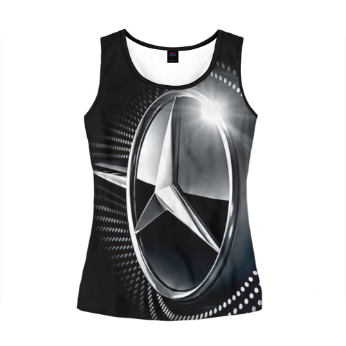 Женская майка 3D Mercedes-Benz