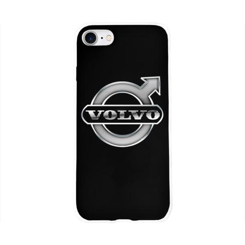 Чехол для Apple iPhone 8 силиконовый глянцевый  Фото 01, Volvo