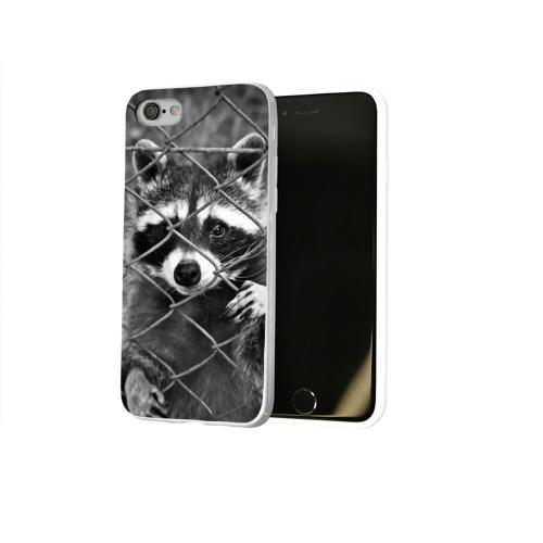 Чехол для Apple iPhone 8 силиконовый глянцевый  Фото 02, Свободу Енотам