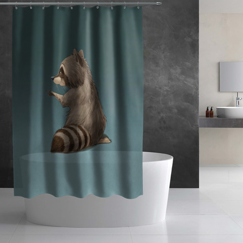 Штора 3D для ванной  Фото 02, There