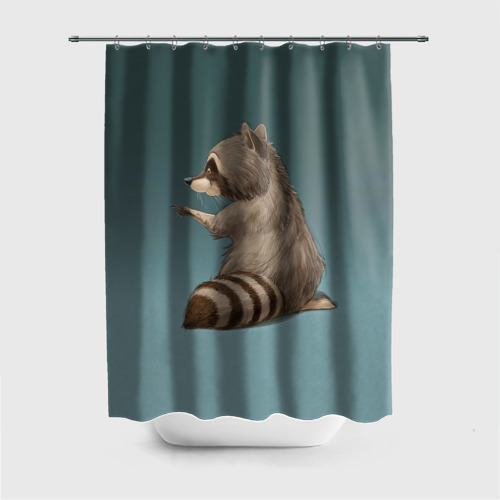 Штора 3D для ванной  Фото 01, There