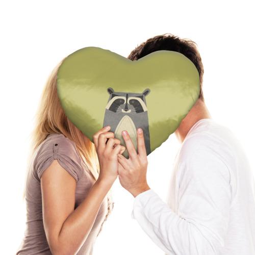 Подушка 3D сердце  Фото 03, Енот
