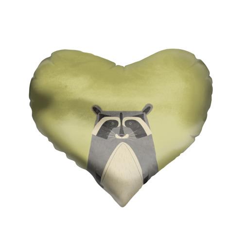 Подушка 3D сердце  Фото 01, Енот