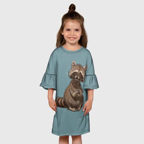 Детское платье 3D  Фото 01, Raccoon