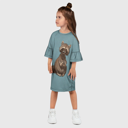 Детское платье 3D  Фото 03, Raccoon