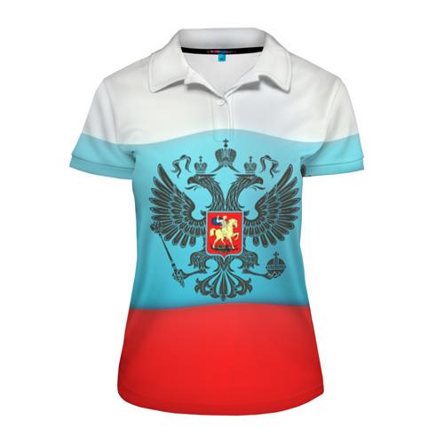 Женская рубашка поло 3D Наша страна