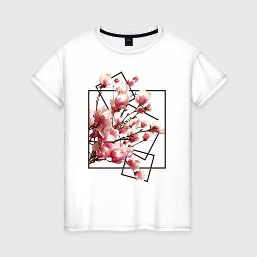 Женская футболка хлопок Магнолия XS фото