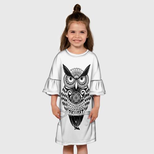 Детское платье 3D  Фото 01, Сова