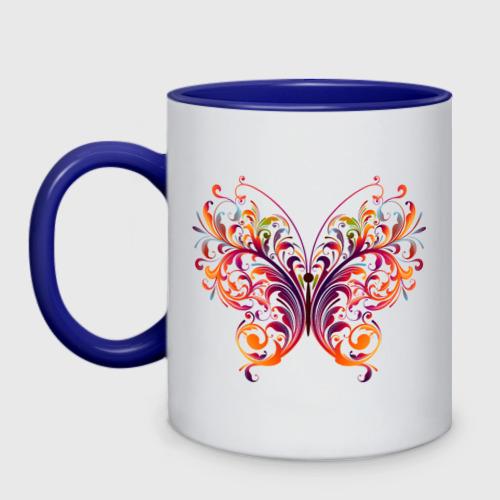 Кружка двухцветная Бабочка Фото 01