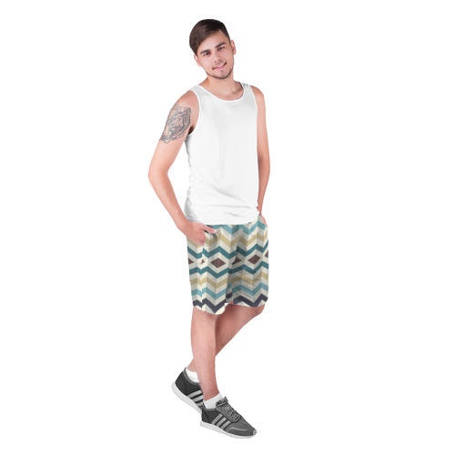 Мужские шорты 3D  Фото 03, Линии