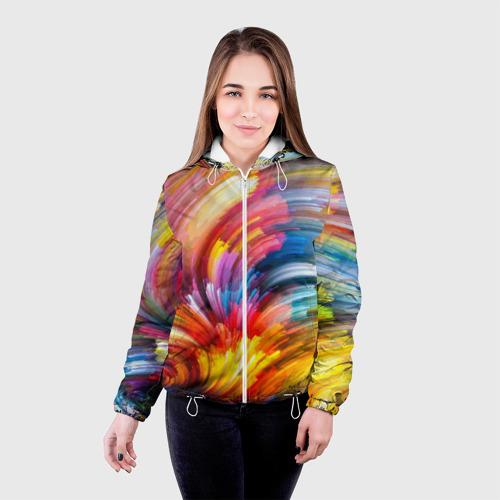 Женская куртка 3D  Фото 03, Яркие краски