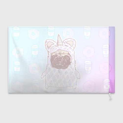 Флаг 3D  Фото 02, мопс-единорог