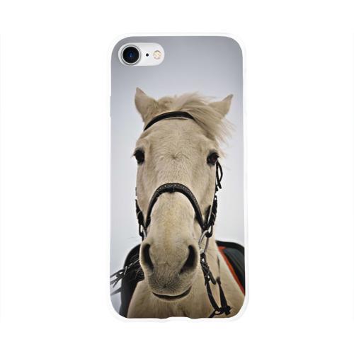 Чехол для Apple iPhone 8 силиконовый глянцевый  Фото 01, Horse