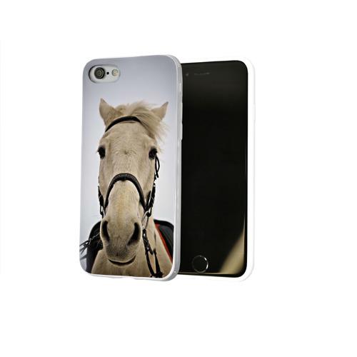 Чехол для Apple iPhone 8 силиконовый глянцевый  Фото 02, Horse