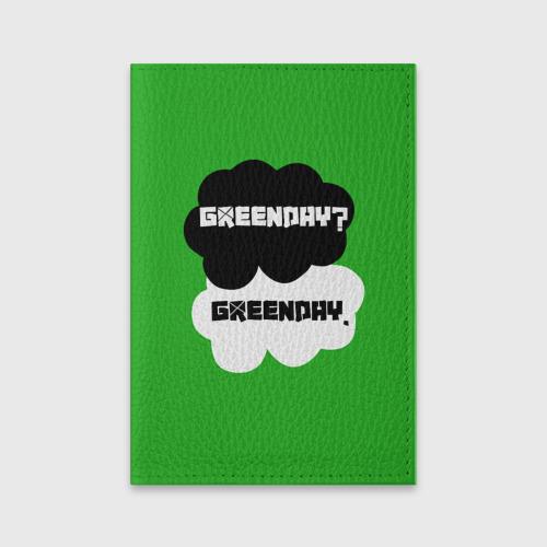 Обложка для паспорта матовая кожа Green day Фото 01
