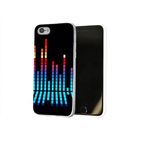 Чехол для Apple iPhone 8 силиконовый глянцевый  Фото 02, Эквалайзер