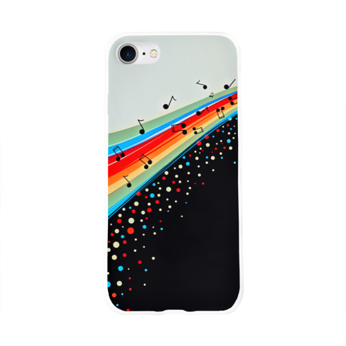 Чехол для Apple iPhone 8 силиконовый глянцевый  Фото 01, Музыка
