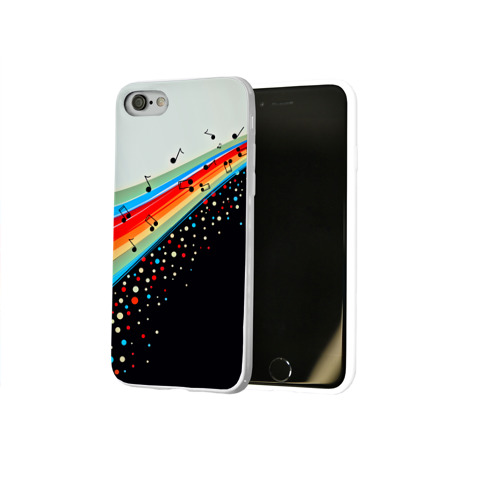 Чехол для Apple iPhone 8 силиконовый глянцевый  Фото 02, Музыка