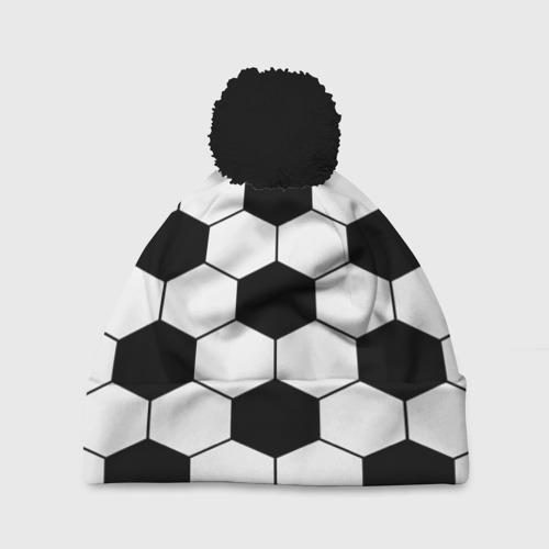 Шапка 3D c помпоном Футбольный мяч