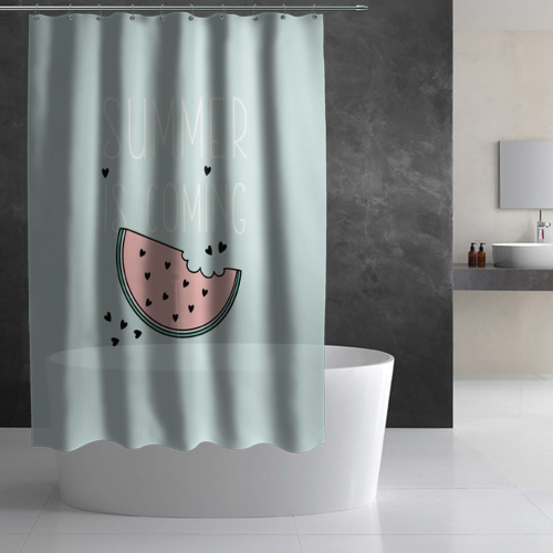 Штора 3D для ванной  Фото 02, Summer