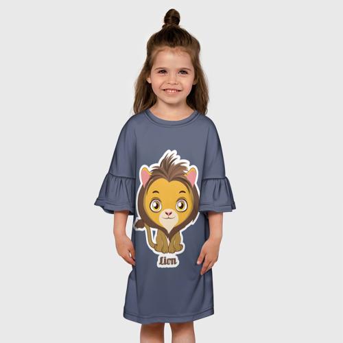 Детское платье 3D  Фото 01, Лев