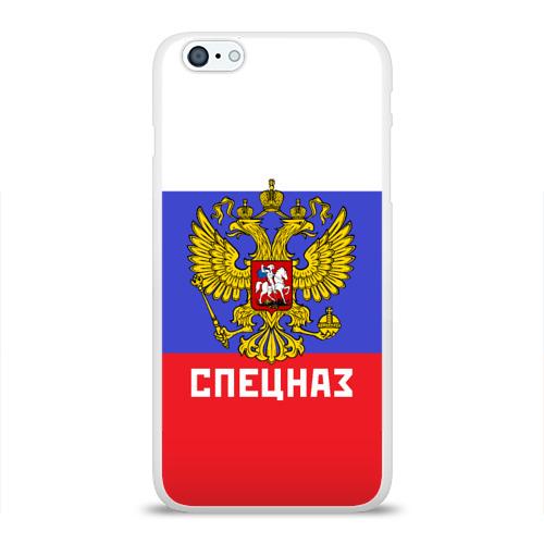 Чехол для Apple iPhone 6Plus/6SPlus силиконовый глянцевый  Фото 01, Спецназ, герб и флаг России