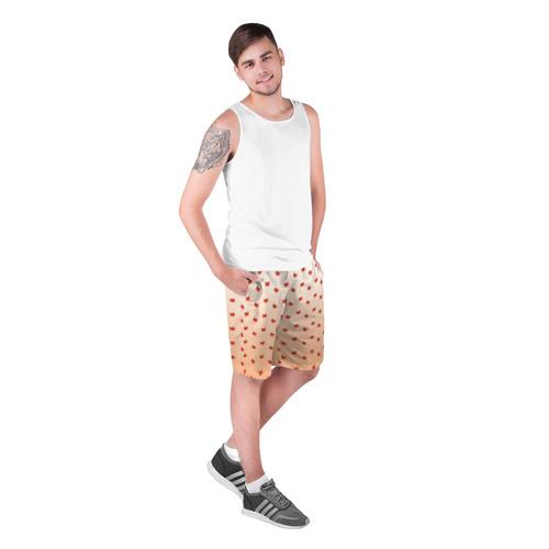 Мужские шорты 3D  Фото 03, лисица паттерн low poly