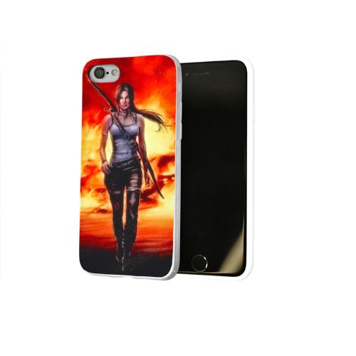 Чехол для Apple iPhone 8 силиконовый глянцевый  Фото 02, Tomb Raider