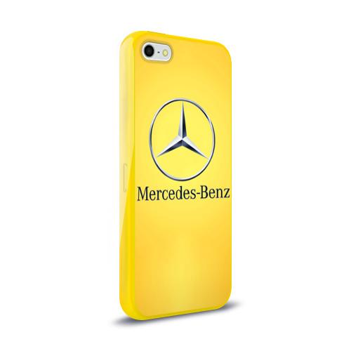 Чехол для Apple iPhone 5/5S силиконовый глянцевый Yellow Benz Фото 01