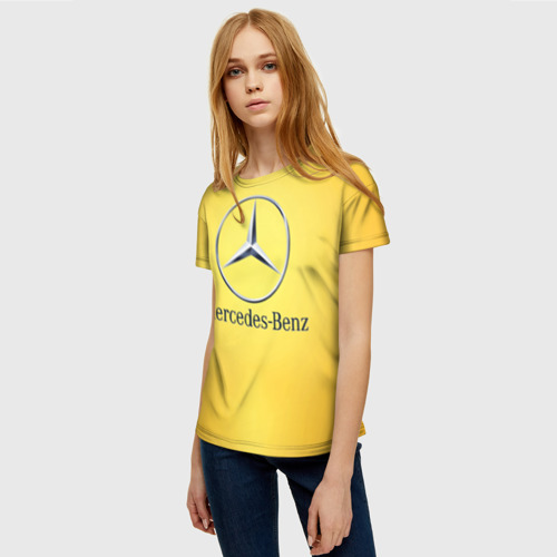 Женская футболка 3D Yellow Benz Фото 01