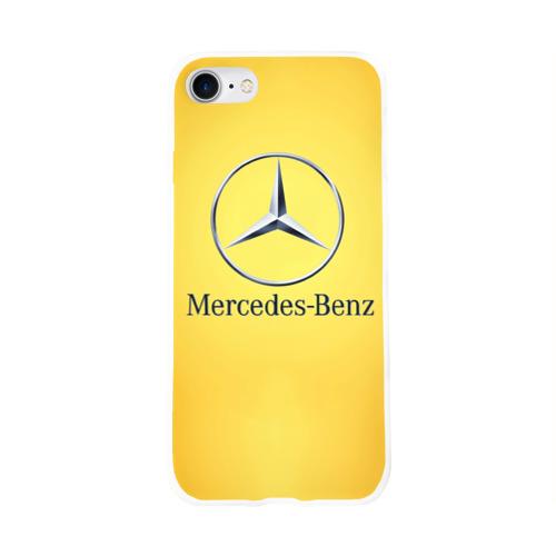 Чехол для Apple iPhone 8 силиконовый глянцевый  Фото 01, Yellow Benz