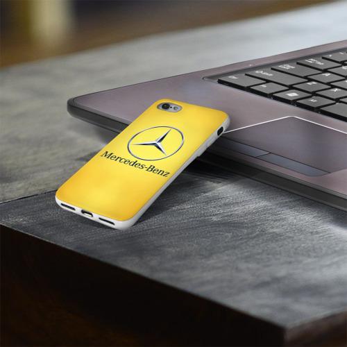 Чехол для Apple iPhone 8 силиконовый глянцевый  Фото 03, Yellow Benz