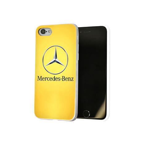 Чехол для Apple iPhone 8 силиконовый глянцевый  Фото 02, Yellow Benz