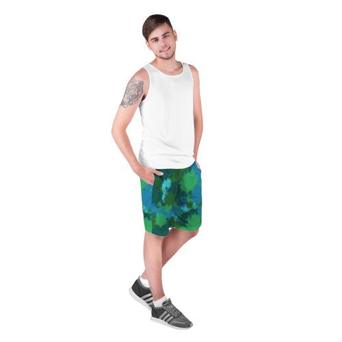 Мужские шорты 3D  Фото 03, Камуфляжные кляксы