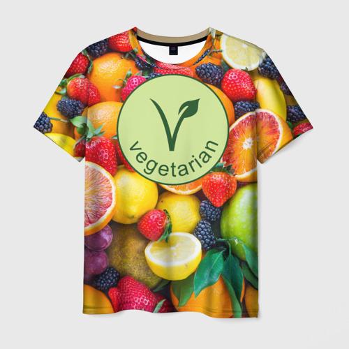 Мужская футболка 3D Vegetarian