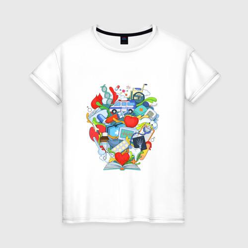 Женская футболка хлопок Интерны