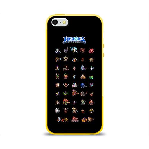 Чехол для Apple iPhone 5/5S силиконовый глянцевый  Фото 01, HotS
