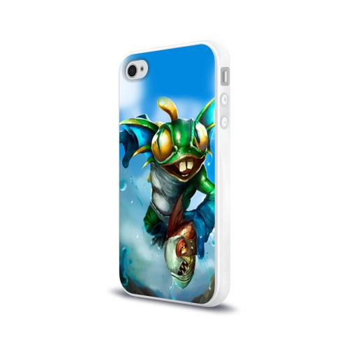 Чехол для Apple iPhone 4/4S силиконовый глянцевый Мурчаль 1 Фото 01