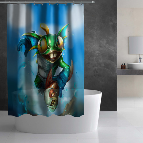 Штора 3D для ванной Мурчаль 1 Фото 01
