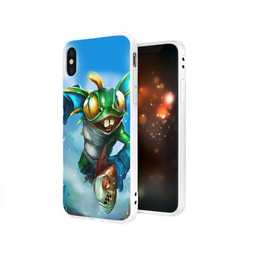 Чехол для Apple iPhone X силиконовый матовый Мурчаль 1 Фото 01