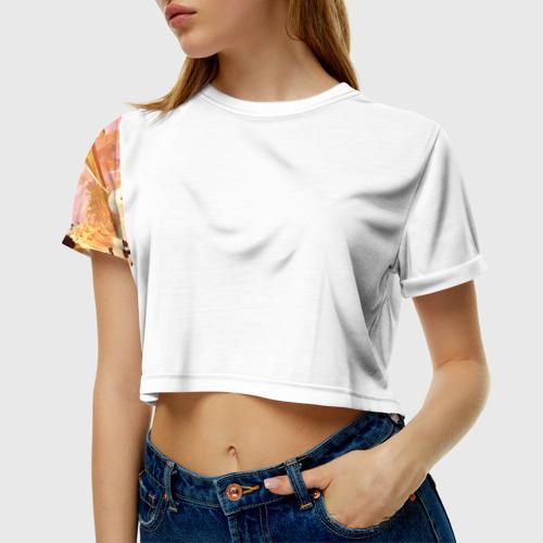 Женская футболка 3D укороченная Анубис