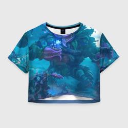 Женская футболка Crop-top 3DУжас сада