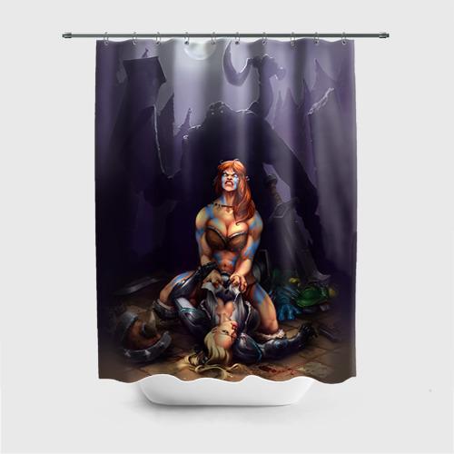 Штора 3D для ванной  Фото 01, HotS 2