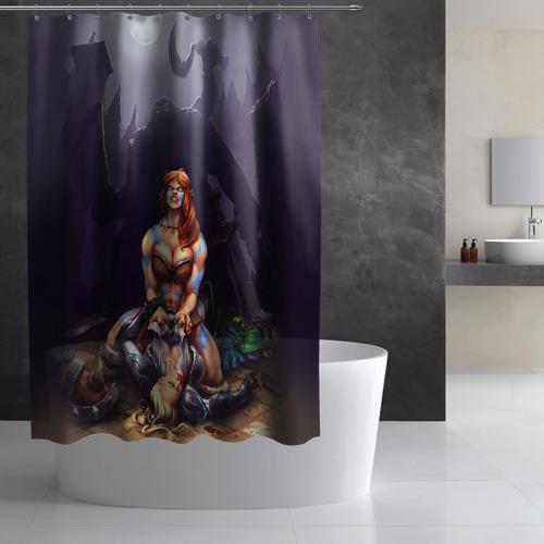 Штора 3D для ванной  Фото 03, HotS 2
