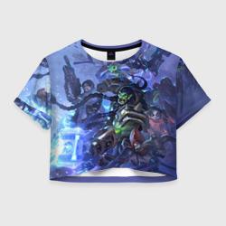 Женская футболка Crop-top 3DHotS 4