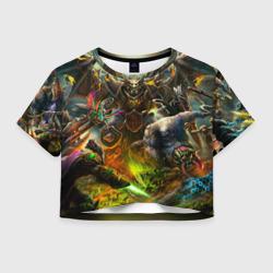 Женская футболка Crop-top 3DРыцарь дракон