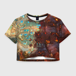 Женская футболка Crop-top 3DHotS 5