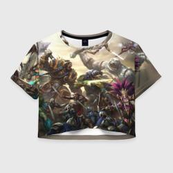 Женская футболка Crop-top 3DHotS 11