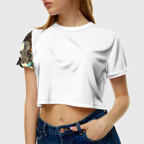 Женская футболка 3D укороченная HotS 11