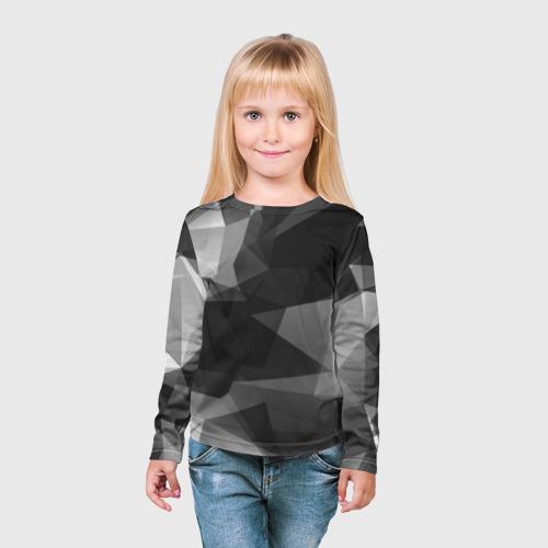 Детский лонгслив 3D  Фото 03, Camo - Black & White (Чёрно-белый камуфляж)